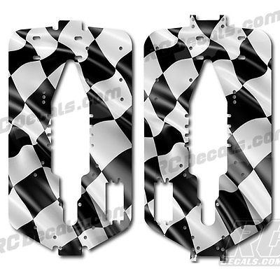 Traxxas T-Maxx 3.3 Extended Chassis Protector Decal - Checkered Flag rc decals, rc, radio controlled, decals, team associated, chassis protector decals, rc cars, rc truck, rc starter wand, rc graphics, rc graphic kits, drone, rc drone, drone decals, traxxas decals, rc stickers, flag decals, radio controlled car stickers, drone stickers, dji stickers, dji decals, losi decals, losi stickers