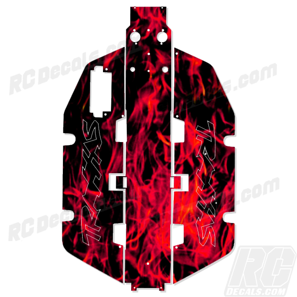 Traxxas Slash 2x2 Chassis Protector Decal RC - Flames (Any Color!) rc decals, rc, radio controlled, realtree blaze camoflauge, decals, team associated, 2wd, 4wd, 2x2, 4x4, chassis protector decals, rc cars, rc truck, rc starter wand, rc graphics, rc graphic kits, drone, rc drone, drone decals, traxxas decals, rc stickers, flag decals, radio controlled car stickers, drone stickers, dji stickers, dji decals, losi decals, losi stickers