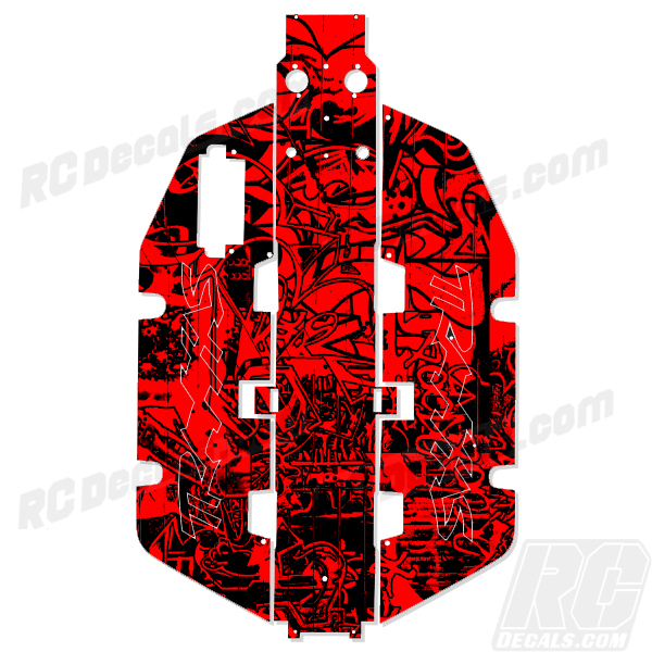 Traxxas Slash 2x2 Chassis Protector Decal RC - Grafitti rc decals, rc, radio controlled, realtree blaze camoflauge, decals, team associated, 2wd, 4wd, 2x2, 4x4, chassis protector decals, rc cars, rc truck, rc starter wand, rc graphics, rc graphic kits, drone, rc drone, drone decals, traxxas decals, rc stickers, flag decals, radio controlled car stickers, drone stickers, dji stickers, dji decals, losi decals, losi stickers
