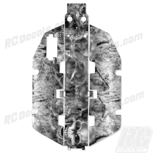 Traxxas Slash 2x2 Chassis Protector Decal RC - Skully rc decals, rc, radio controlled, realtree blaze camoflauge, decals, team associated, 2wd, 4wd, 2x2, 4x4, chassis protector decals, rc cars, rc truck, rc starter wand, rc graphics, rc graphic kits, drone, rc drone, drone decals, traxxas decals, rc stickers, flag decals, radio controlled car stickers, drone stickers, dji stickers, dji decals, losi decals, losi stickers
