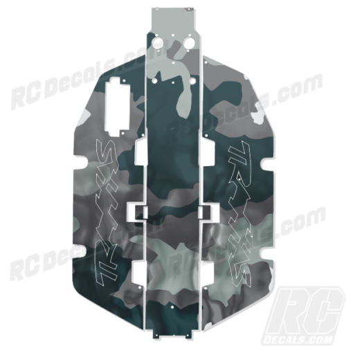 Traxxas Slash 2x2 Chassis Protector Decal RC - Smoke Camo rc decals, rc, radio controlled, realtree blaze camoflauge, decals, team associated, 2wd, 4wd, 2x2, 4x4, chassis protector decals, rc cars, rc truck, rc starter wand, rc graphics, rc graphic kits, drone, rc drone, drone decals, traxxas decals, rc stickers, flag decals, radio controlled car stickers, drone stickers, dji stickers, dji decals, losi decals, losi stickers